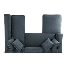 Handy Living Phoenix Sectional Sofa with Ottoman in Dark Gray Plush Low-Pile Velour - The Home Depot Furniture Plans, Living Room Furniture, Transitional Sectional Sofas, Autocad, Counter Height Dining Sets, L Shaped Sofa, Corner Sectional, Sofa Pillows, All Modern