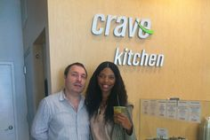 Inside NYFW Day 1: SELF's fashion department gives you insider access from all the shows at NYFW. LUNCH BREAK: Grabbed mine on the go at Crave Kitchen. Here I am with the owner of Crave Kitchen, Tom. I made sure to pick up an iced green tea with mint and lemon to recharge me before my next show. #SelfMagazine