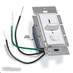 there's more to changing a switch than connecting a few wires. you have to check grounding and box size for a safe, first-class job. it's easy to install a dimmer switch, but make sure to upgrade the wiring if necessary to make it safer and meet electrical code requirements. we'll show you how to assure a safe installation.