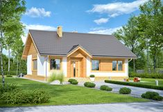 DOM.PL™ - Projekt domu ARN Sezam CE - DOM RS1-24 - gotowy koszt budowy Malaga, Bungalow, Shed, Exterior, Outdoor Structures, Mansions, House Styles, Outdoor Decor, Home Decor
