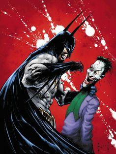Batman vs Joker by Sam Kieth