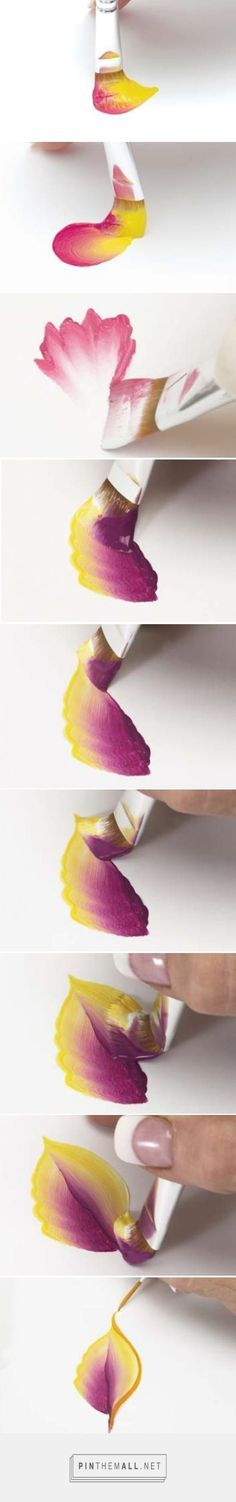 Basic Techniques of One-Stroke Flower Petal Painting. Please also visit www.JustForYouPropheticArt.com for more colorful art to pin.