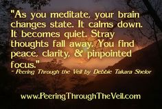 Peering Through the Veil: Meditation Quote by Takara