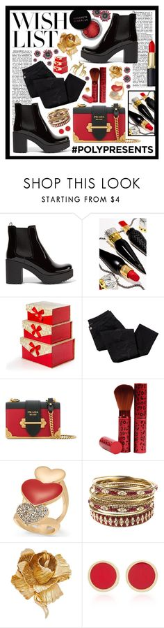 """#PolyPresents: Wish List"" by beanpod ❤ liked on Polyvore featuring Prada, Christian Louboutin, Avon, Concrete Minerals, Thalia Sodi, Amrita Singh, Christian Dior, Established, contestentry and polyPresents"