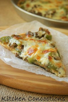 Kitchen Concoctions: Philly Cheesesteak Pizza #recipe #pizza