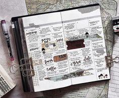 Last week's activities all on paper  #plannerPhilippines #plannerph #thePHplannersociety #thePHplanningsociety #midoritravelersnotebook #travelersnotebook #travelersnotebookph