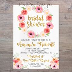 Hey, I found this really awesome Etsy listing at https://www.etsy.com/listing/504821267/floral-bridal-shower-invitation