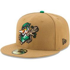 New Era Down East Wood Ducks Brown Alternate 2 Authentic Collection  On-Field 59FIFTY Fitted Hat df289a2277b