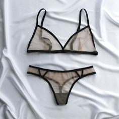 Nude sheer underwear:see through bralette & sexy micro bikini.Boho bralette See mesh lingerie Sexy mesh Patch bra Beige lingerie set Bride Cute Lingerie, Sheer Lingerie, Gorgeous Lingerie, Lingerie Sets, Cute Underwear, Mesh Underwear, Sheer Bralette, Lingerie See Through, Sexy Gifts