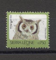 Owl postage stamp, Sierra Leone