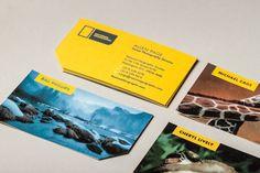 Projeto inspirador de cartão de visita. Rebranding da National Geographic.