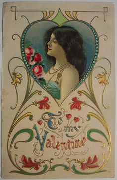 To my valentine. From the Owen Postcard Collection in the University of Louisville Digital Collections. Valentine Images, My Funny Valentine, Vintage Valentine Cards, Vintage Greeting Cards, Vintage Holiday, Valentine Day Cards, Diy Valentine, Valentines Greetings, Valentines Day Hearts