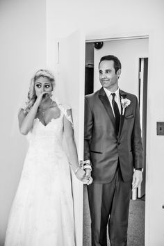 """Not a First Look - it's a First """"Touch"""" Wedding Picture 