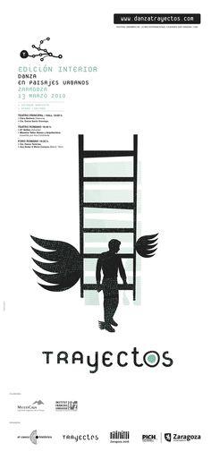 Material gráfico Trayectos 2010 Interior.  Diseño: Miguel Iguacen. Zaragoza, Theater, Scenery, Interiors