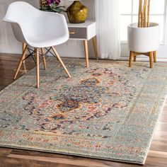 This machine-made 100% polypropylene rug features a traditional style with a modern color palette. Constructed in a durable yet soft polypropylene construction this beautiful rug will make a wonderful