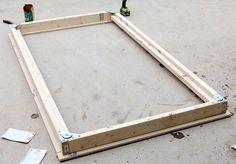 DIY Twin Platform Bed via Jen Woodhouse