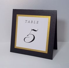 Black Gold and White Tent Wedding Table Number by xARTinosCosmos, €2.20