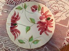 Blue Ridge Pottery plate in the Cyclamen pattern