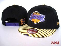 NBA LA Lakers Snapback Hats Caps Black 2593|only US$8.90
