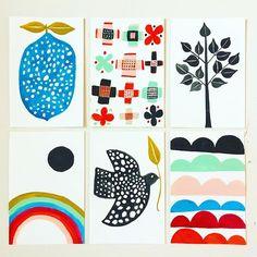 Six small paintings by Lisa Congdon // @lisacongdon