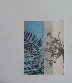 Small original botanical monoprint Handmade by fieldandhedgerow