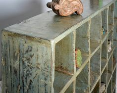 Large Salvaged Indian Cubbie Shelf от hammerandhandimports на Etsy