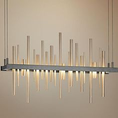 The stylish and attractive design of this contemporary small urban landscape LED pendant will flourish in a modern decor.