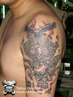Prehispanic Emperor Tattoo » ₪ AZTEC TATTOOS ₪ Aztec Mayan Inca Tattoo Designs Instant Download
