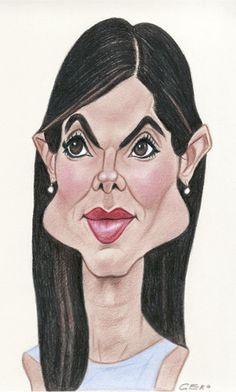 Sandra Bullock #caricatura