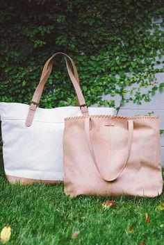 Click to shop TOMS Tote Bags in canvas and leather.