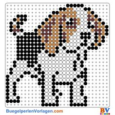 Hund Bügelperlen Vorlage. Auf buegelperlenvorlagen.com kannst du eine große Auswahl an Bügelperlen Vorlagen in PDF Format kostenlos herunterladen und ausdrucken.