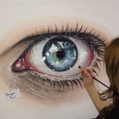"""WANT A FREE FEATURE ?  1) like and comment on this photo  2) follow @ladyterezie  3) CLICK link in my profile   Happy instagramming!   #art #freeshoutouts #shoutout #feature #shoutouts   Repost from @marigona_toma  """"Eyes speek when words can't""""  Painting with acrylic! #MarigonaToma #CollectionEye via http://instagram.com/ladyterezie"""