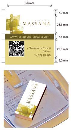 Propuesta Caja de Cerillas para Restaurante Massana en Girona.