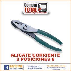 #CompraTotal - #HerramientaManualCostaRica ALICATE CORRIENTE 2 POSICIONES 8