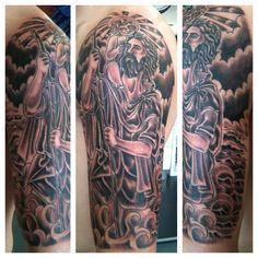 saint st christopher religious sleeve irish street tattoo downpatrick belfast