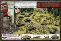 Open Fire! Box Back - great starter set for Flames of War being released soon! :D