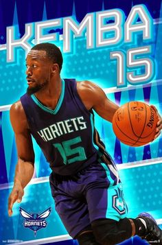4d745ed7aa29 Charlotte Hornets Kemba Walker Rising Star 22x34 Basketball Poster