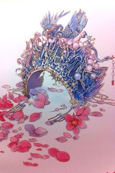 By Artist Unknown. Turandot Opera, Illustrations, Illustration Art, Chinese Opera, China Art, Chinese Painting, Ancient Art, Japanese Art, Cute Art