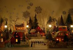 ♫ ...Walking in a Winter Wonderland ♫ Vintage Glitter & Glitz Putz Christmas House Mantel Decor Inspiration * Fabulous use of vintage bottle brush trees, glitter and tiny embellishments for a perfect Putz Display!