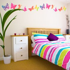 Colorful Teenage Bedroom Wall Decals Decorating Ideas Picture