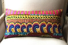 Bedouin Bolster OOAK pillow cover - 12 x 22 inches (30x56cm)