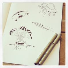 drawings in a nuuna notebook by @edvanuden via Instagram