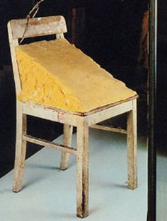 Joseph Beuys, Fat Chair, 1964. A reflection of my interest to experiment with unconventional materials.