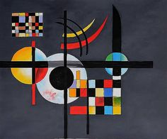 Needlepoint canvas. Gravitation by Wassily Kandinski needlepoint.