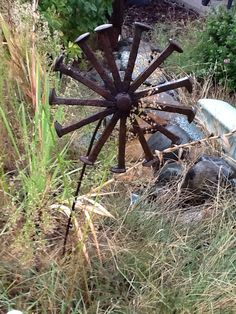 Some welded art from my backyard shop.