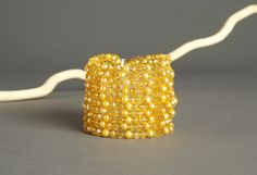 Gold Colored Multi Strand Beaded Bracelet  8 by AmphaiJewelry