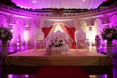 Purple and white theme for an Indian wedding ceremony