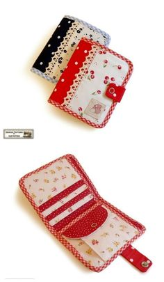 Instant digital download bi-fold wallet sewing pattern.