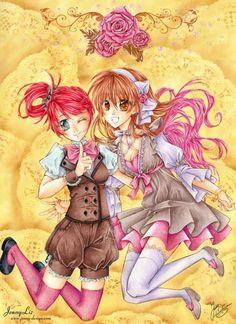 """Shoujo Manga """"Verknipst"""" from Jenny Liz and Anne Delseit - https://www.facebook.com/jennylizmanga/"""