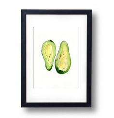 Avocado Art Print kitchen art Botanical by TheJoyofColor on Etsy